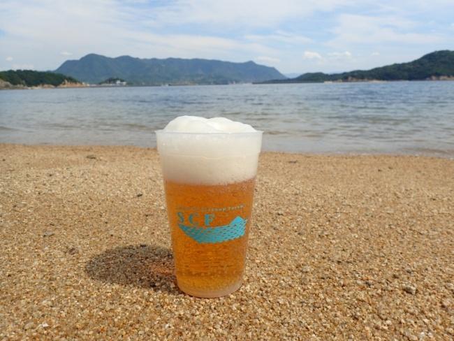 島ビールをリユースカップで!!